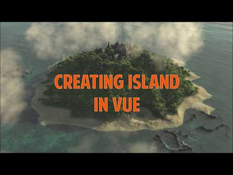Creating island in Vue making terrain shape 1. How to create Epic Landscapes in Vue. thumbnail