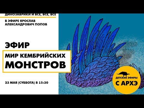 Детский эфир «Мир кембрийских монстров» в рамках рубрики «Динозаврики и все, все, все»