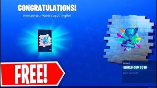 Wie man exklusive Fortnite World Cup Spray Farbe,Wrap,Skin...