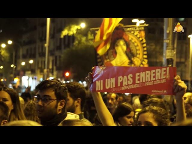 manifestació en contra de la repressió contra els joves que protesten [contrainfos ]