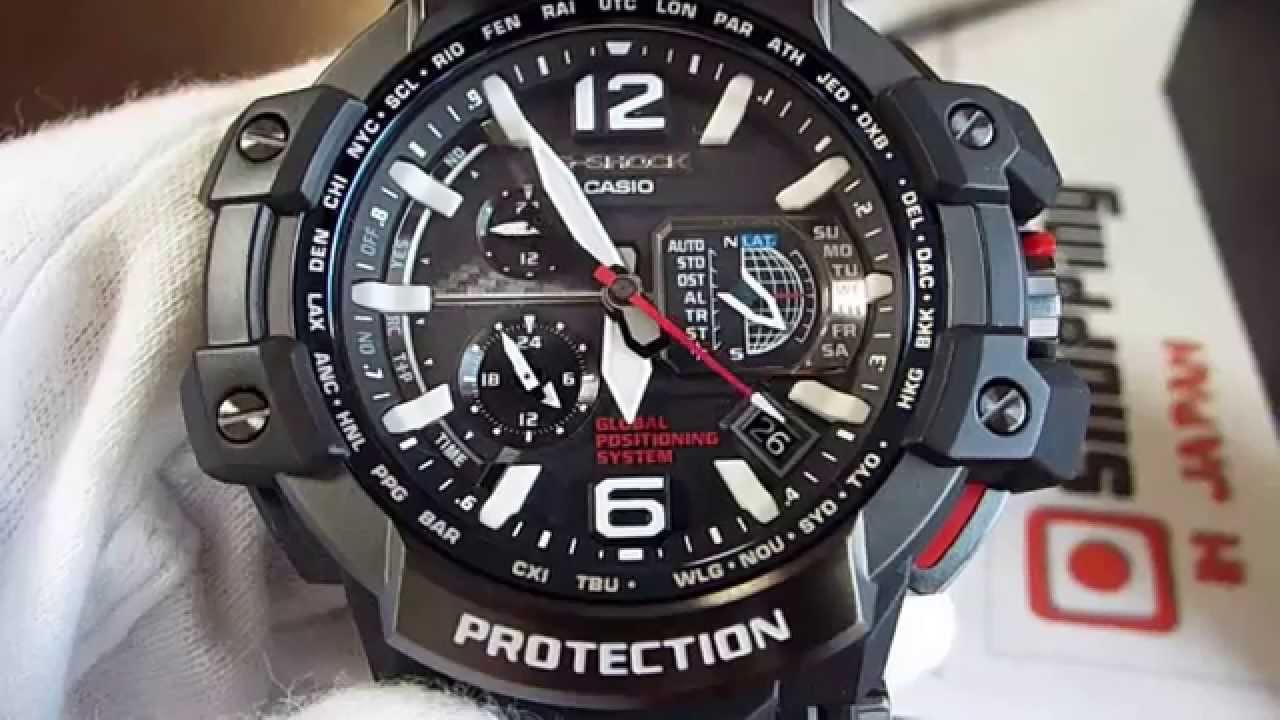 Casio G-Shock GPS Hybrid Wave Ceptor GPW-1000-1AJF Aviation - YouTube 6238c90f6
