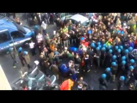 Scontri operai AST a Roma: il video inedito