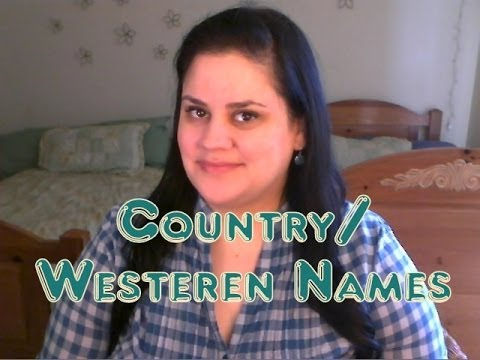 Country/Western Baby Names
