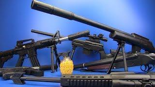 Guns Toys for Kids !!! Realistic Toy Guns - Military Guns- BOX OF TOYS