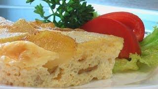 Картофельная запеканка в яйце видео рецепт. Книга о вкусной и здоровой пище(Сайт проекта:http://www.videocooking.ru Приготовлено по рецепту из