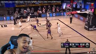 FlightReacts Los Angeles Lakers vs Indiana Pacers - Full Game Highlights   August 8, 2020!
