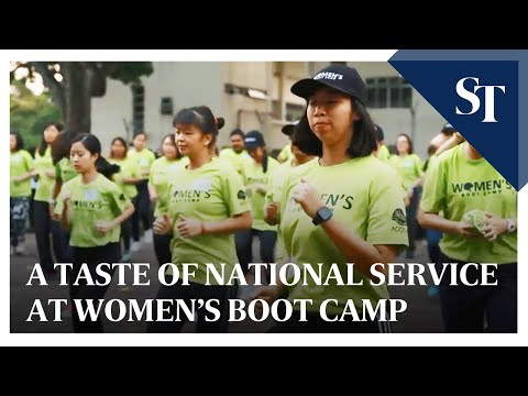 Getting a taste of national service at Women's Boot Camp | The Straits Times