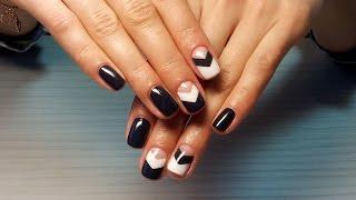 Дизайн ногтей гель-лак Shellac - роспись ногтей (уроки дизайна ногтей)