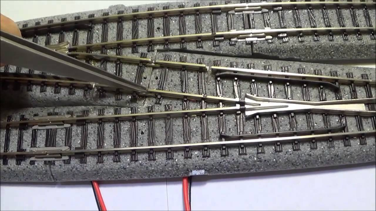 medium resolution of how to make an n scale kato 6 single cross over youtube