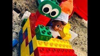 ELF ON THE SHELF TRAPPED INSIDE LEGO HUT!