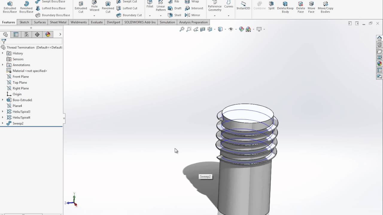 Properly Terminating a Thread in SOLIDWORKS - YouTube