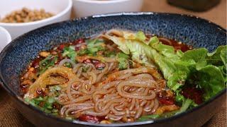 Authentic Sichuan Hot and Sour Noodle Soup [酸辣粉]