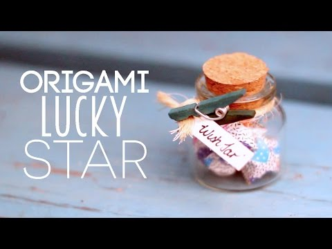 DIY ♥ Paper Lucky Star Wish Jar Tutorial