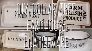 DIY Dollar Tree Farmhouse Enamelware 5 Ways