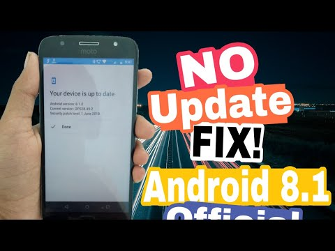 Fix! No Android O  Update On Moto G5 Plus, Moto G5s Plus | How To Install ???