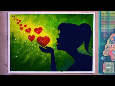 #valentinesday | Oil Pastel Drawing For Beginners Step By Step Easy | Valentine's Day Painting Ideas