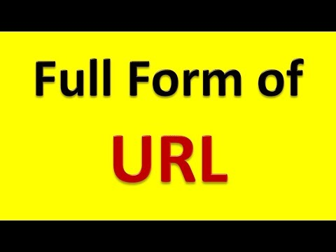 Full Form of URL - YouTube