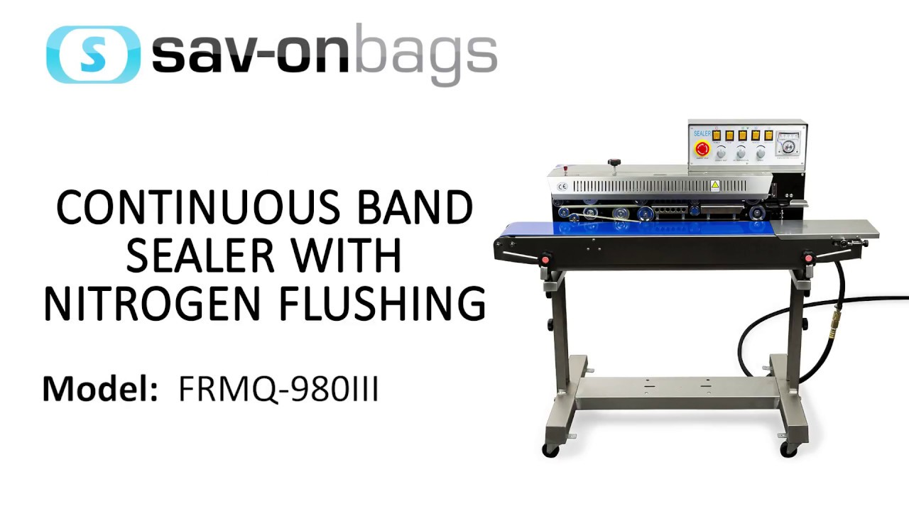Sav On Bags >> Sesame Cone Running Through Sav On Bags Frmq 980iii Continuous Band Sealer