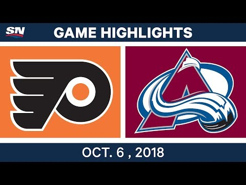 NHL Highlights | Flyers vs. Avalanche - Oct. 6, 2018