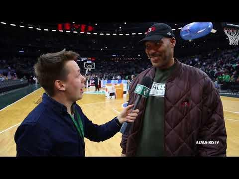 LaVar Ball speaks Lithuanian on atmosphere at Zalgirio arena