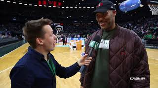 LaVar Ball speaks Lithuanian on atmosphere at Zalgirio arena