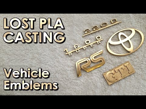 Casting Car Emblems from 3d printer to METAL casting / vehicle restoration - Lost PLA Method #pla7