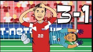 Россия - Египет 3-1 Обзор матча (Мультбол)