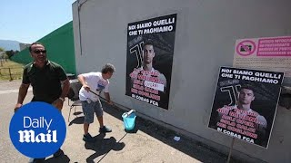Fiat factory workers protest and plaster anti Ronaldo posters
