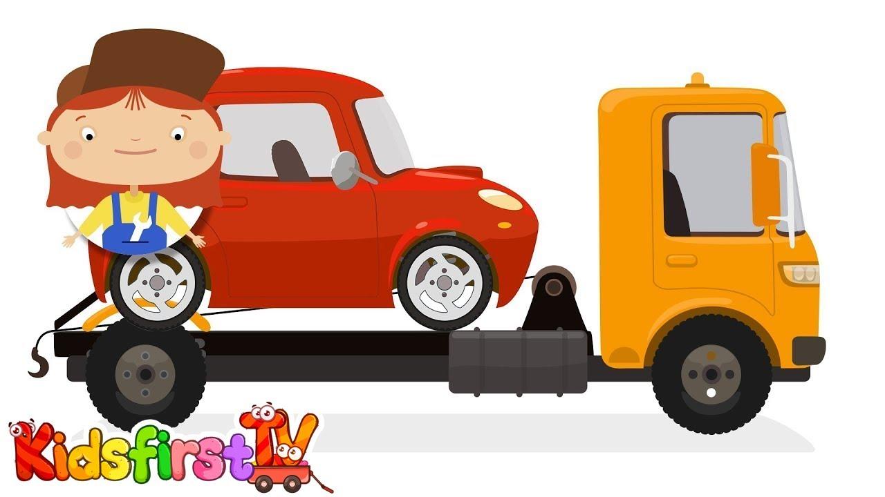 doctor mcwheelie u0026 a tow truck trucks for kids u0026 car cartoons