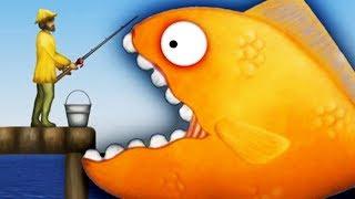 Tasty Blue 2 КАРАСИК ВАСЯ СЪЕЛ РЫБАКОВ Веселая мульт игра для детей про рыбку обжору СЪЕСТЬ ОКЕАН