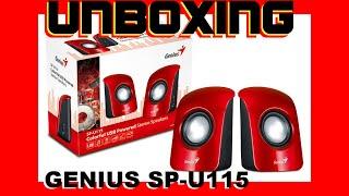 Unboxing Bocinas Genius SP-U115