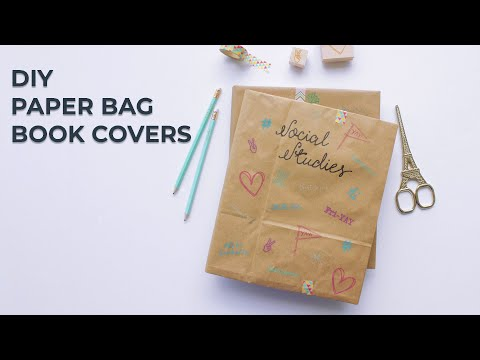 DIY Paper Bag Book Covers