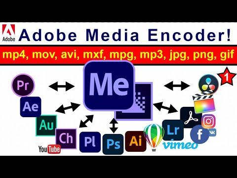 Как конвертировать в mp4 видео avi, mov, mp3 конвертер ✅ Adobe Media Encoder обзор для ЮТУБА 🤡 53 №1