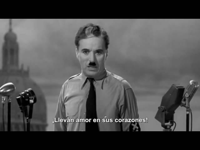 Charles Chaplin: El gran dictador, discurso final
