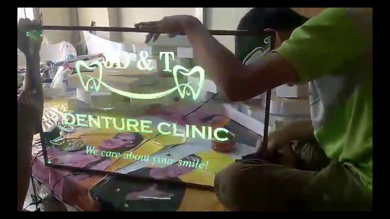 Hộp Đèn Siêu Mỏng 3D&T Nội Dung Khắc Laser Ẩn