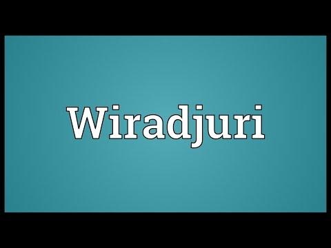 Wiradjuri Meaning