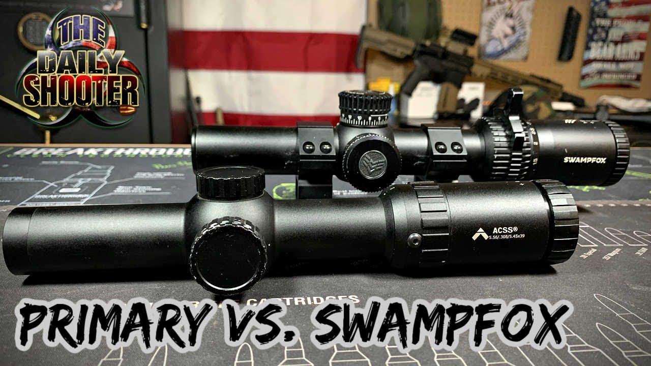 Primary 1-8 w/ ACSS Vs. Swampfox Tomahawk 1-8 Gorilla BDC