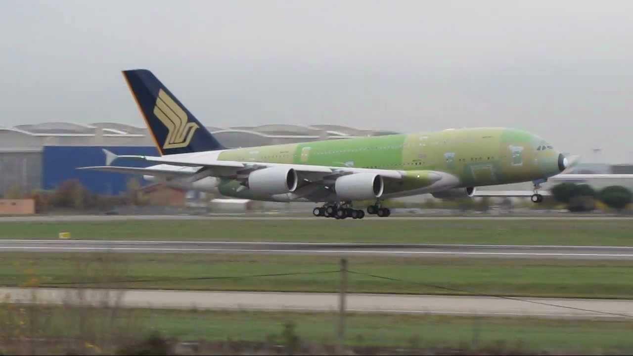 atterrissage a 380 f wwah singapour pas peind le 13 12 2011à 15h50