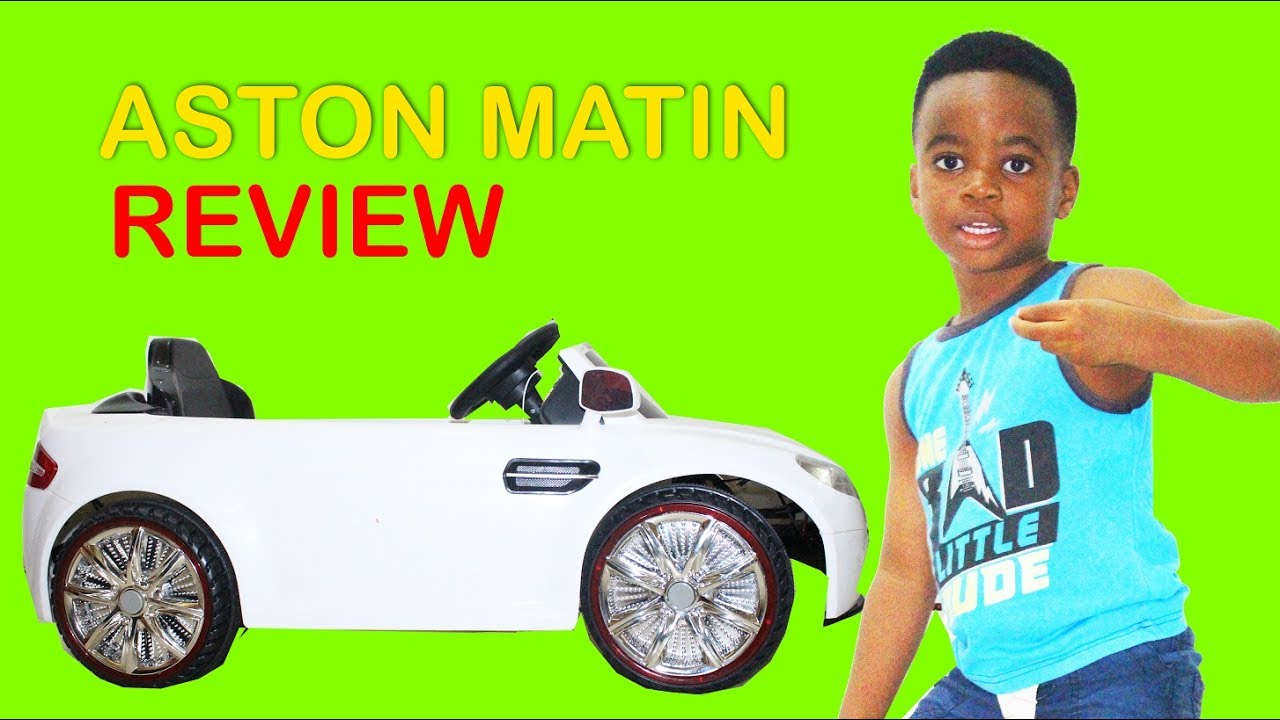 Kids Ride On Car Aston Martin 12 Volts Power Wheels Review Youtube