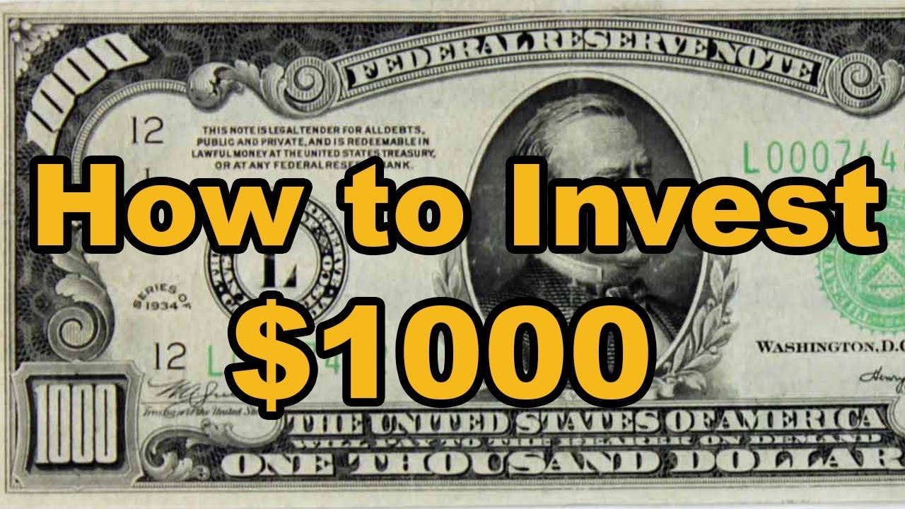 The Best Ways To Invest Your First 1000