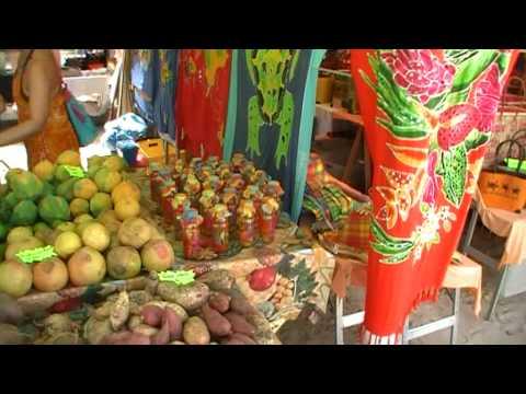 guadeloupe,marché produits du terroir:saint-anne, guadeloupe