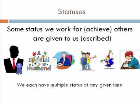 sociology what is achieved status Social interaction in everyday life sociology points to the many rules that guide behaviour in everyday situations the more we learn about the rules of social interaction, the better we can play the game chapter ascribed and achieved status.