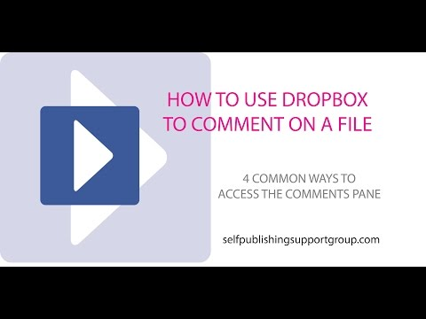 How to Use Dropbox to Comment on a File