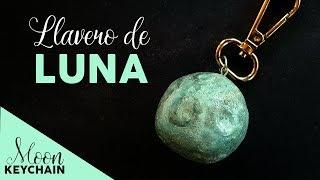 Llavero de Luna Porcelana Fría 🌕 Moon Keychain Polymer Clay | ¡Lleva la Luna en tu bolsillo!