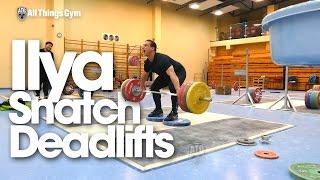 Ilya Ilyin Deficit Snatch Grip Deadlifts (No Hook Grip)
