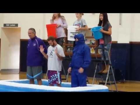 F E Peacock Middle School raising money through the Ice Bucket Challenge!