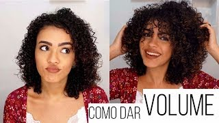 Como dar volume no cabelo SEM pente garfo!