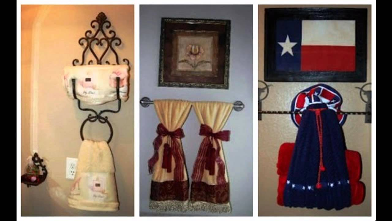 Great Bathroom towel decorating ideas - YouTube