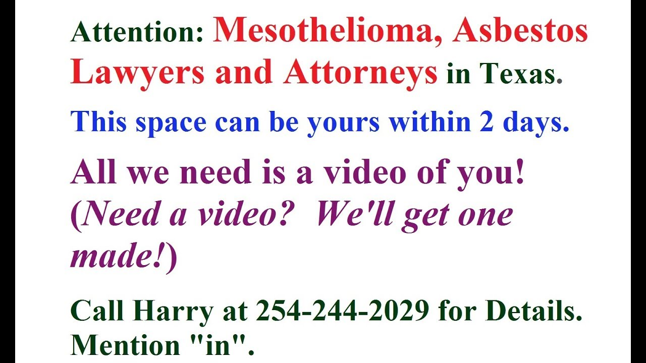 Experienced Mesothelioma Lawyers in Tx