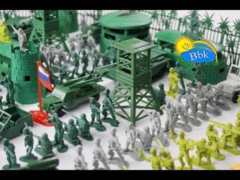 Домашние сражения игрушек ↑ Военные солдатики,  нёрфы, роботы ↑ Обзор игрушек - Видео онлайн